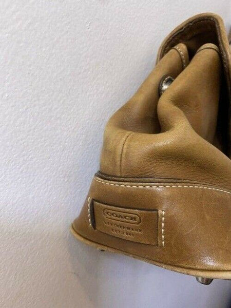 coach small tan leather tote