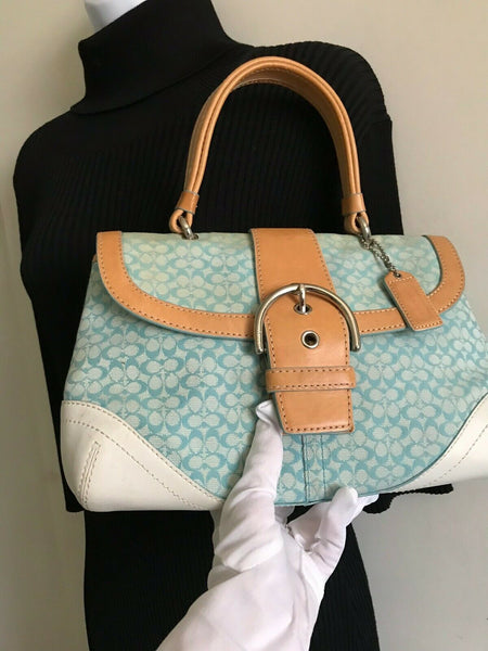 Coach Colored Fabric Handbag