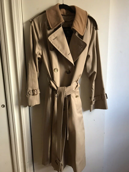 BURBERRY Men's Khaki Trench Coat Excellent! XL