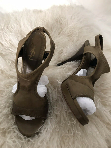 YSL YVES SAINT LAURENT High Heel Sandals Size 8.5