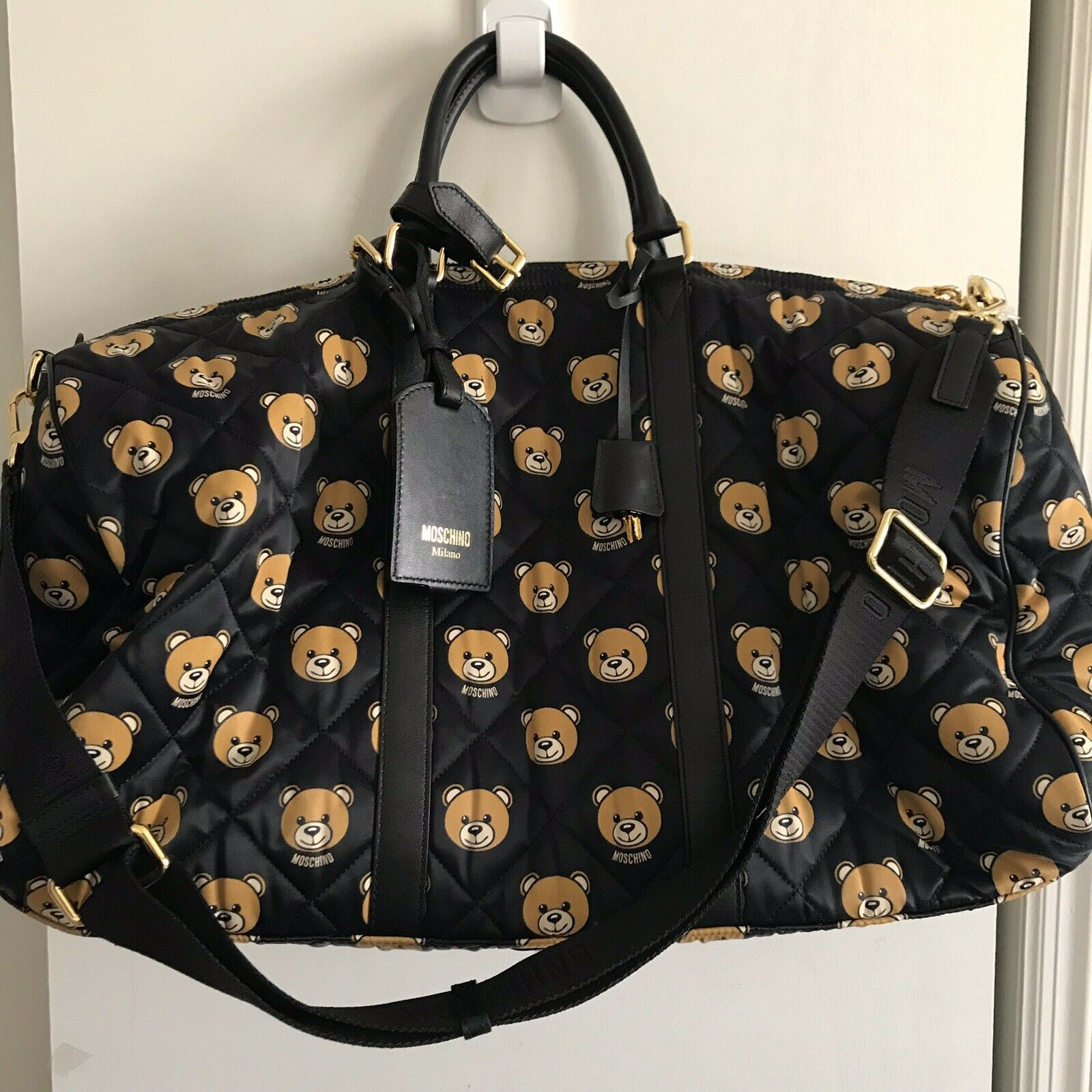 Moschino Quilted Teddy Bear Travel Bag