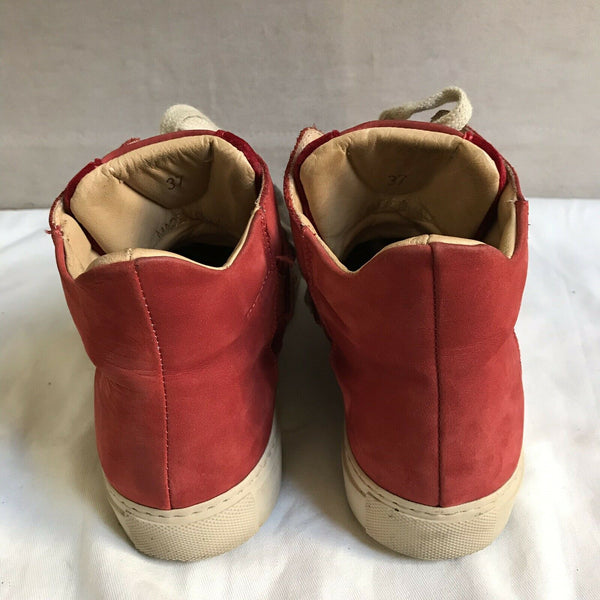 Maison Margiela Red Mid Top Sneakers 37