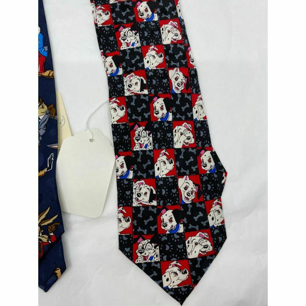 New Lot of 3 Neck tie Disney, Looney Tunes Blue Red White Total Msrp 75