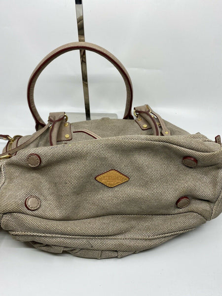 MZ Wallace Khaki Canvas/ Leather Handbag