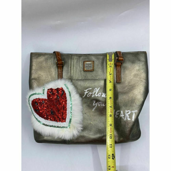 DOONEY & BOURKE Shoulder Tote Bag Customized W/ Silver Graffiti and Applique