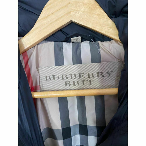 BURBERRY Womens Quilted Down Long Outerwear Jacket Small