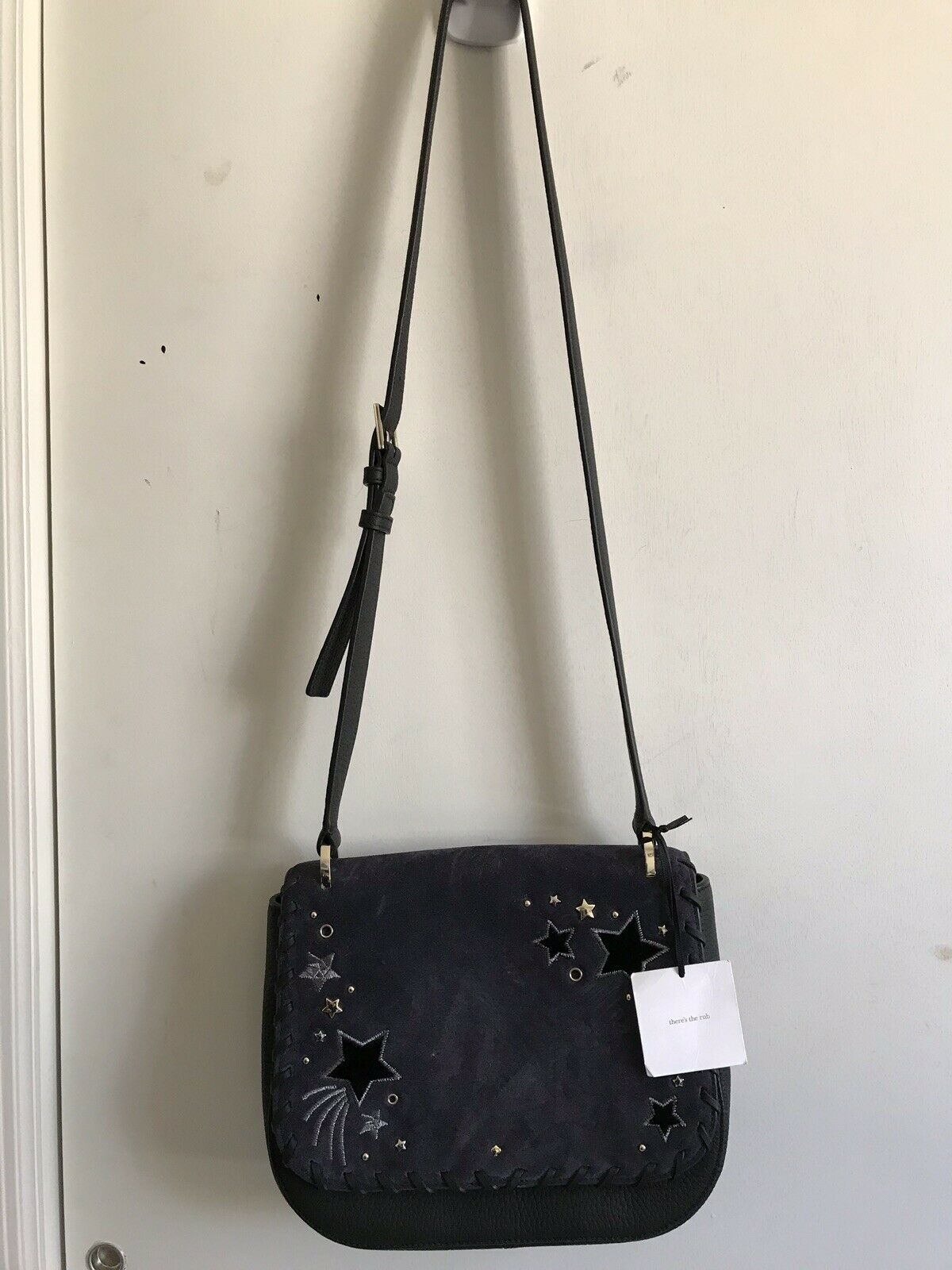 NWT! KATE SPADE Madison Collection Navy Leather Crossbody Msrp $ 550