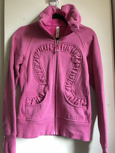 LULULEMON Pink Long Sleeves Knitted Zip Up Size 4