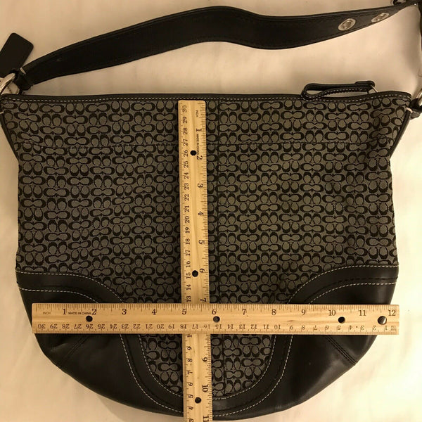 COACH All Over Logo hobo bag