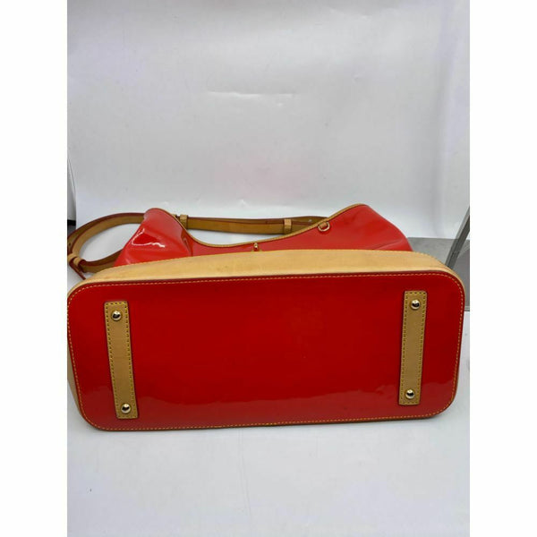 DOONEY & BOURKE Red Tan Large Patent Leather Tote Bag