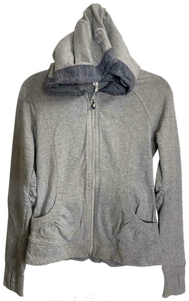LULULEMON Womens Gray Long Sleeves Stylish Hoodies Size: 6
