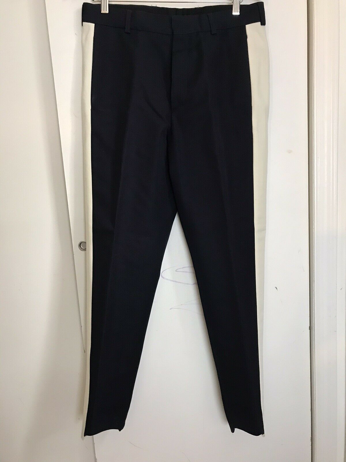 DRIES VAN NOTE  Men's Navy/ White Pants sz US 32 Italian 48