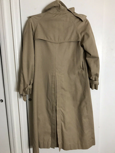 BURBERRY Women's Vintage Khaki Trench Coat size 6
