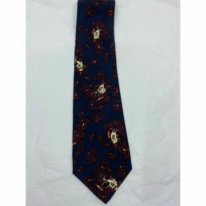 New! MICKEY MOUSE Disney Neck Tie Blue Black Red 100% Silk Handmade