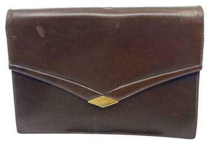Salvatore Ferragamo Vintage Brown Clutch