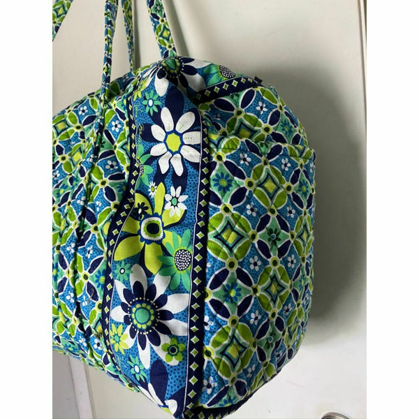 VERA BRADLEY Large Quilted Travel/Weekend Bag Multicolor Customized with Patches