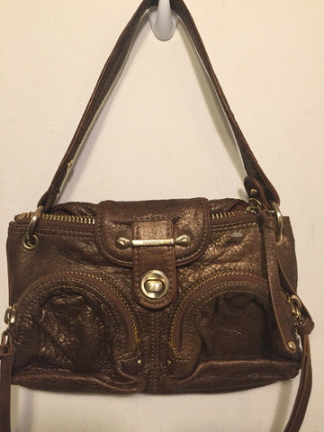 BOTKIER Mini Brown W/ Bronze Shimmer Clutch/ Mini Purse