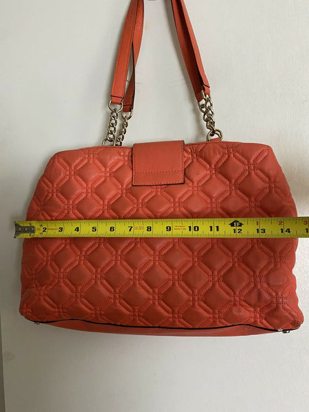 Kate Spade Orange Leather Tote Bag