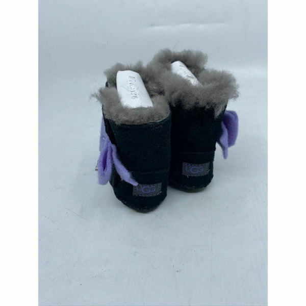 UGG Baby Black Purple Boots Size 1