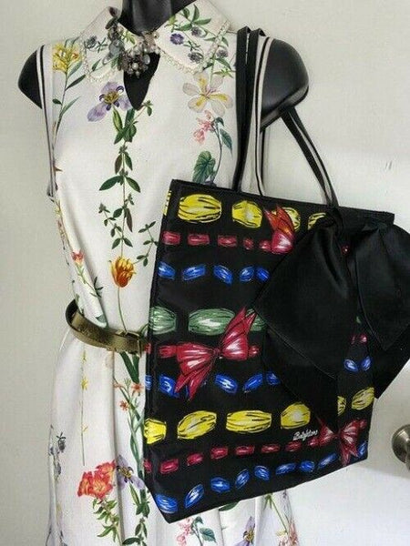brighton bag black with multicolor nylon tote
