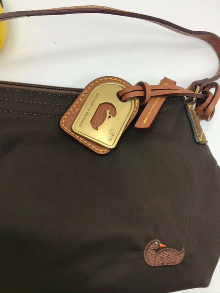 Dooney & Bourkek Brown Small Shoulder Bag