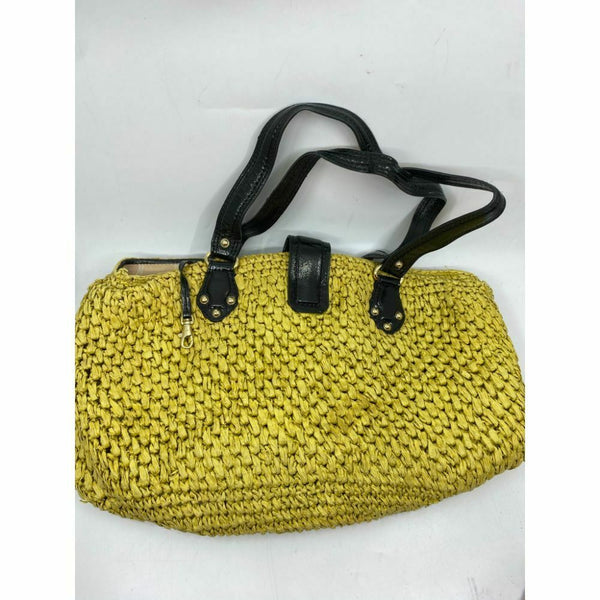 Michael Kors Women's Yellow Large Weave Straw Bag