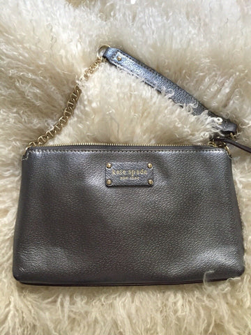 KATE SPADE Silver Grey Mini Purse/ Clutch