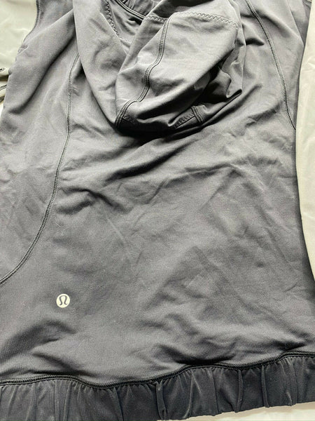LULULEMON Womens Gray Long Sleeves Stylish Hoodies Size: 4