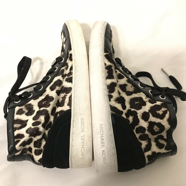 MICHAEL KORS Mid Top Pony hair Sneakers Size 6