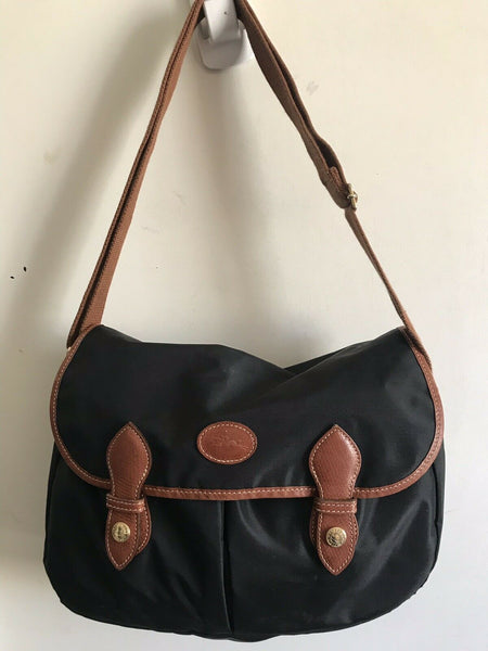 LONGCHAMP Medium Black Nylon Crossbody Bag