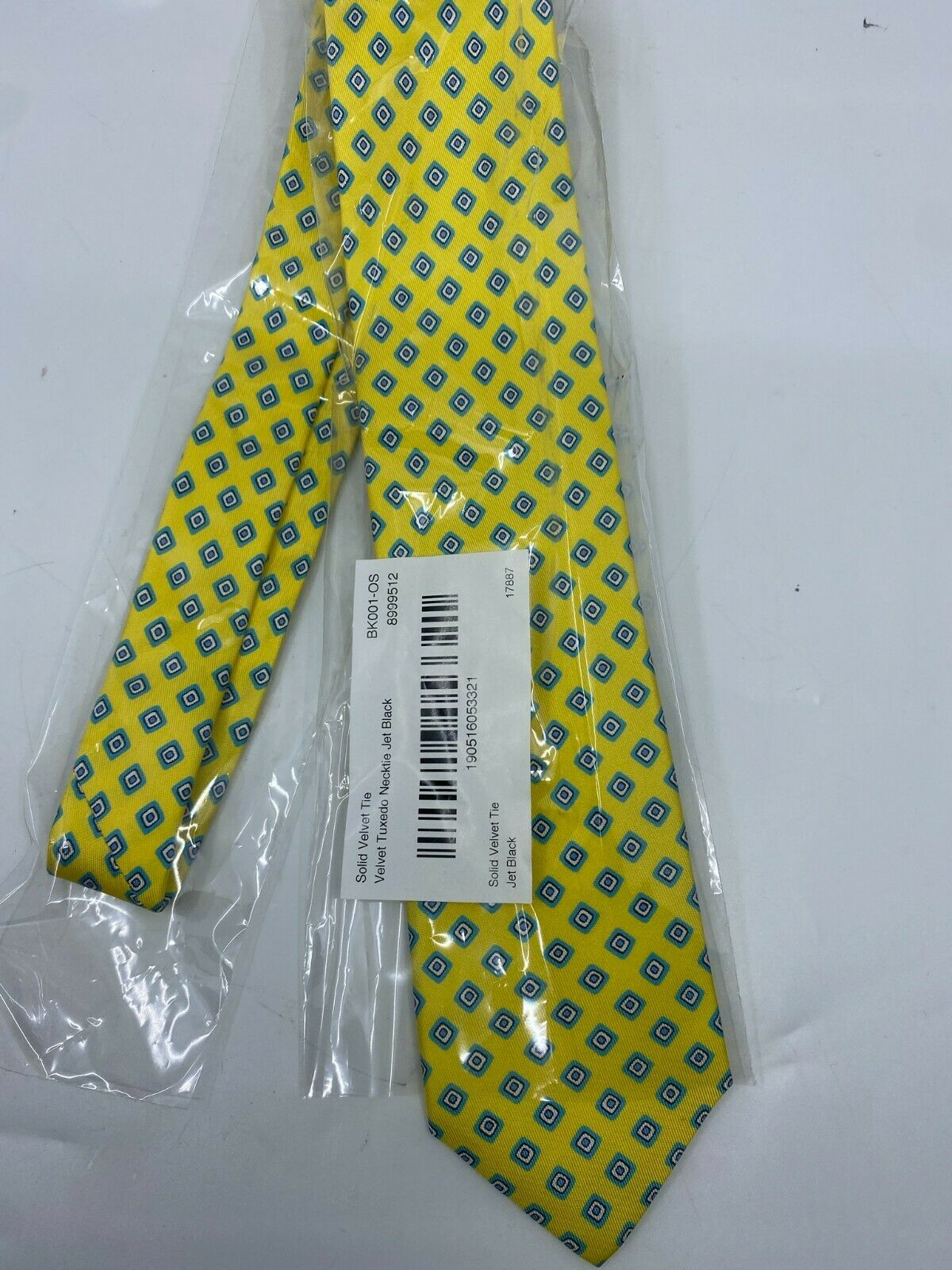 NWOT BONOBOS Neck Tie Yellow Diamond Great for Spring MSRP 98