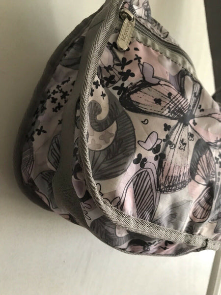 LESPORTSAC Medium Nylon Multi Butterfly Print Crossbody