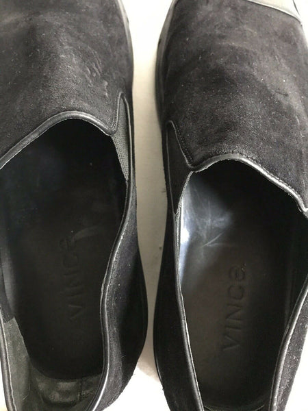 Vince Black Suede Loafers Size 9