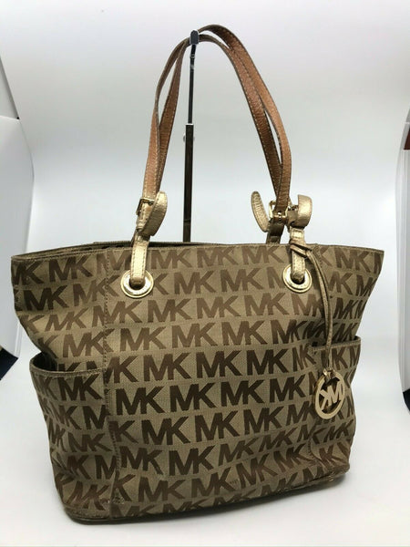 Michael Kors Large Jacquard Fabric Tote Bag