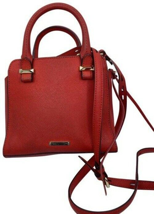 rebecca minkoff red leather cross body bag