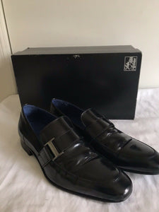 Saks Fifth Avenue Black Leather Loafers