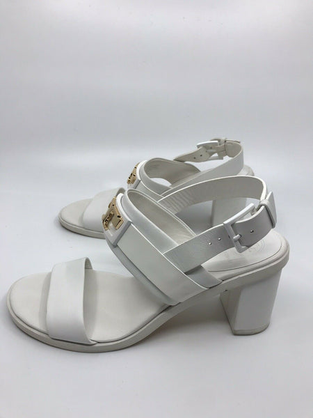 TORY BURCH White Leather High Heels Sandals 6