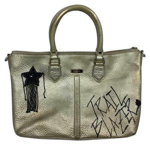 COLE HAAN Tote Bag Customized w Graffiti and Applique Gold