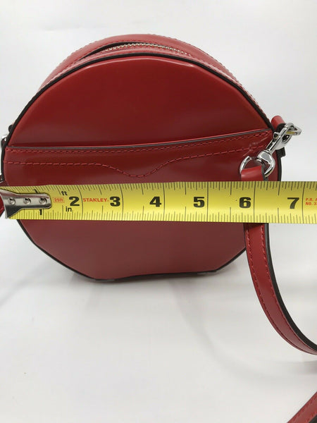 REBECCA MINKOFF Red leather Round Crossbody