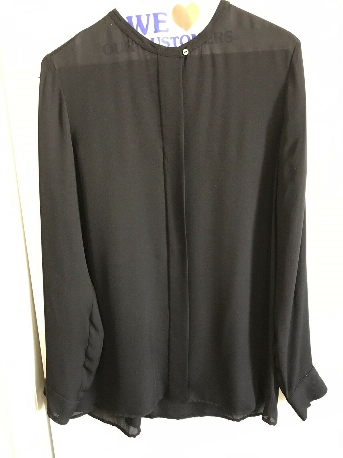 VINCE Silk Blouse Size 10 Msrp $398