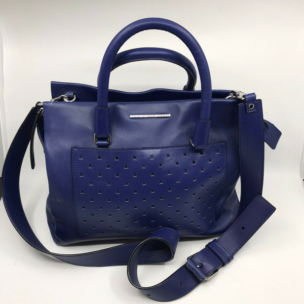 Marc Jacobs Blue Leather Handbag w crossbody Strap
