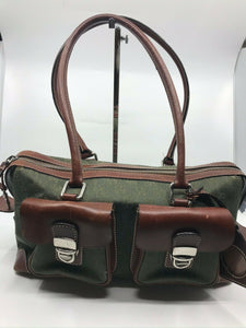 Dooney & Bourkek Brown Medium Canvas Tote