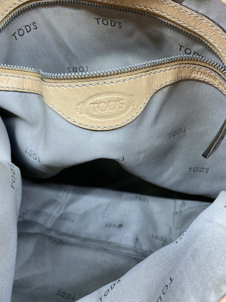 TOD'S Large Laminated Fabric  Tote Bag W/ Strap