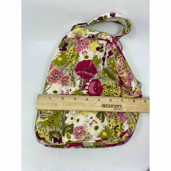 Vera Bradley Pink Green Gray Floral Cosmetic Bag