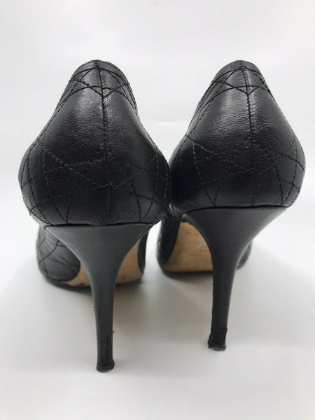 CHRISTIAN DIOR Women's Cannage High Heel Punps Size 41