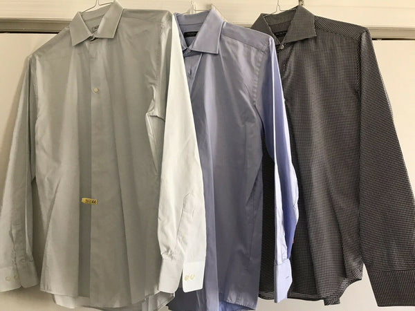 SAKS FIFTH AVE Lot Of 3 Men's Long Sleeves Size Small/ 15.5