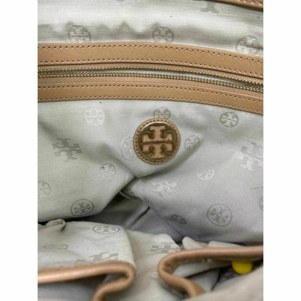 TORY BURCH Large Multi Beige Saffiano Leather Compartment Tote Bag