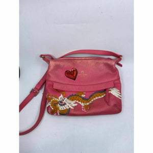 Kate Spade Pink Leather Crossbody With Customized Applique