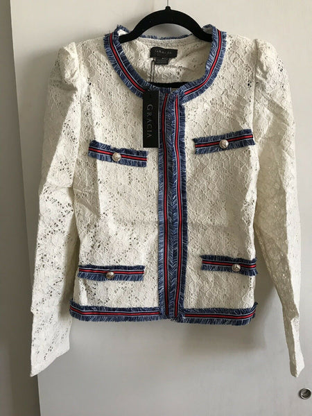 GRACIA NWT White Jacket