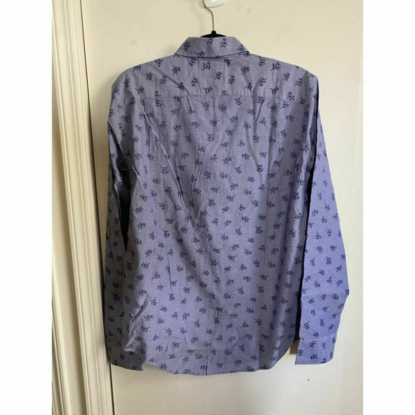 BONOBOS Purple Printed Long Sleeve Button Down Shirt Size M